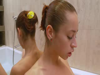 Natashas golden shower in the jacuzzi