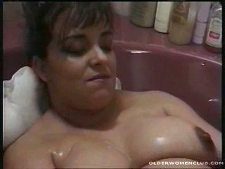 masturbatie, volwassen actie, meest aged lady