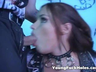 Fan Fucking Pair Rock Stars Backstage