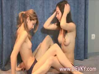 nice lesbo scene, more dyke, lesb