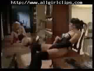 Lesbian 3some W. Strapon And Toys lesbian girl on girl lesbians