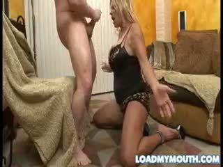 Debi diamond blows ein groß bone