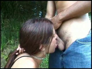 Outdoor sex with a fast trans