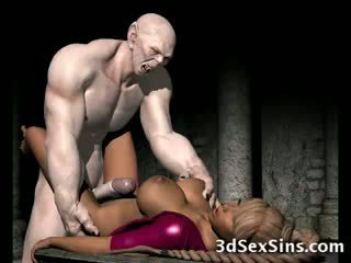 Frightening zombi fucks 3d babeh!