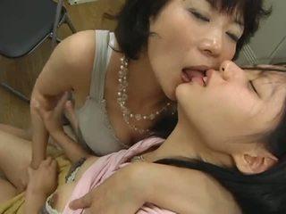 japonski, lezbijke, hlačke, zrel