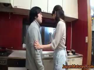 brunetka, japoński, seks grupowy, wielkie cycki