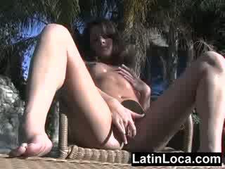 echt brunette video-, kwaliteit buit tube, ideaal spaans