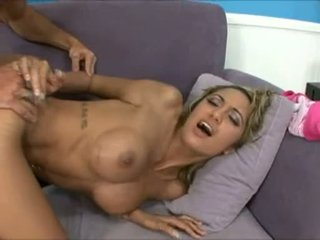 HALia Hill Receives Sprayed With A Warm Load Of Cum On Her Big Scoops