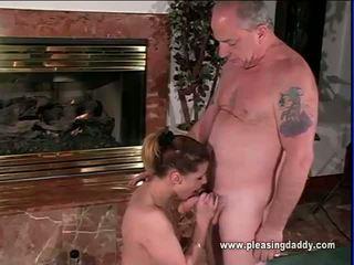 Sybian Riding Slut Sucks Uncle Jesses Old Cock