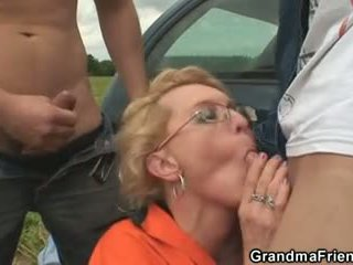 old, new 3some, hottest grandma all