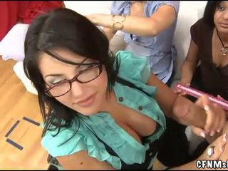 Cute clothed woman fucked