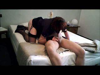 Alexandra sucking a cock