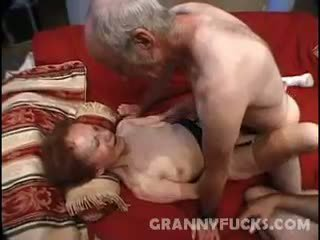 Raw Grandma Threesome
