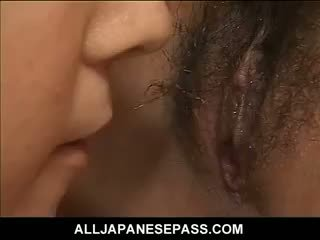 Horny Mature Japanese AV Model Teaches A Hot Young Asian