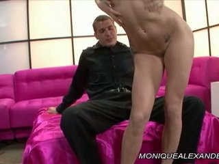 Monique Alexander Has Her Mouth Clogged Around A Monstrous Power Tool