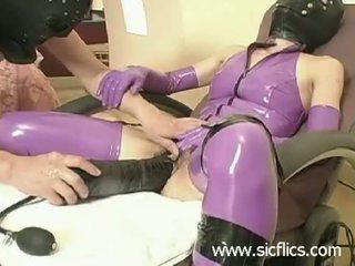 nieuw fetisch, latex actie, kijken xxl dildo's