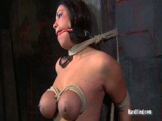 ideaal hardcore sex kanaal, bondage sex, mooi nudist heeft seks in publc neuken