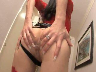 Jayla starr shows af haar zeer sexy rood lingerie