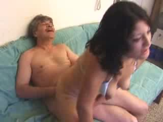 Young girl having sex with old man Video
