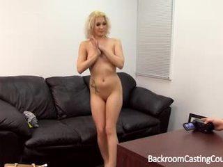 Blonde backroom cum swallower
