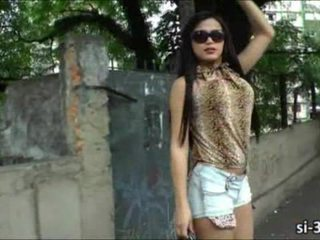 Transgender vixen bruna butterfly wanks zakar/batang