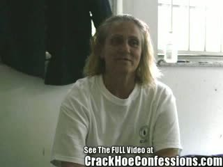 Old ass Street Skank Happily Gives Crack House Tour