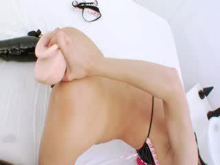 Unique brutal vegetable in her ass Hole