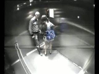 Caught fucking at elivator hidden cam Video