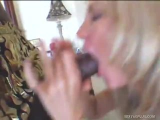 Darksome Dude Squeezes Boobs Of Tarty Milf