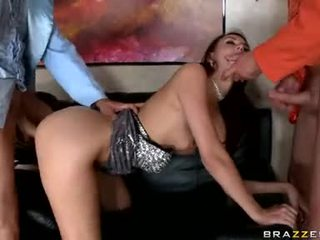 Katie Jordan Bow On Couch And Being Pump While On Blow Job