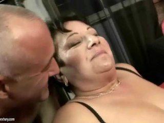 Fat grandma enjoys nasty hard sex