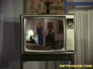 Retro telewizja pokaz trio