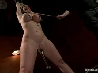 Bosomy Blonde Sara Jay Has Restrained And Bumped Large
