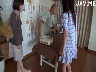 briunetė, japonijos, cumshot