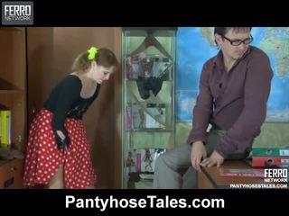 Kjempebra strømpebukse tales film med utrolig porno stjerner viola, jaclyn, marina