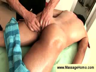 Massaging his firm bottocks