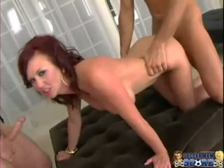 Huge tit mom Felony Foreplay gets jizzed in a hot threesome action