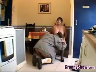 brunette, big boobs, granny