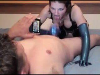 膠乳 schlampe 德語 女孩 blue 膠乳 手套 他媽的: 色情 c5
