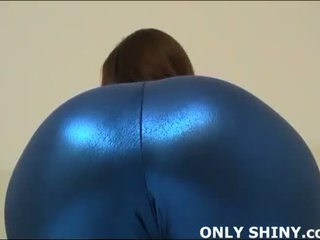 This nyenyet blue spandex hugs my curves