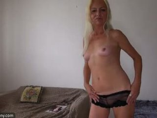 Nice skinny granny and girl using dildo to ma