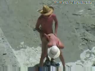 Spying Horny Couple at Nude Beach