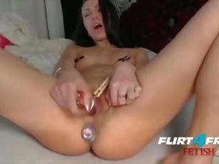 Fetish hottie millana shows off cô ấy hậu môn chơi skills