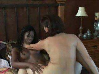 Melissa Monet fingering and licking black pussy