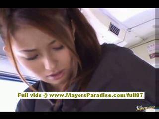 Nao Yoshizaki sexy asian teen on the bus