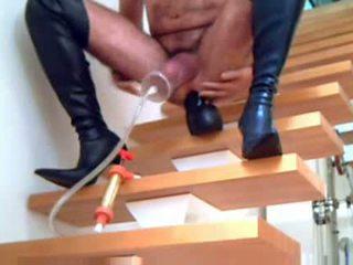 ideaal laarzen film, een crossdressing porno