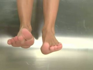 Erica Fontes showing off her perfect sexy feet