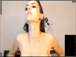 een brunette, jong thumbnail, dubbele penetratie