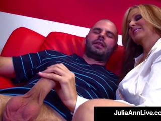 Hot Sex Hungry MILF Julia Ann Fucks Her Cum Spewing...