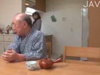 japonais, vieux + jeune, l'adolescence, asiatique